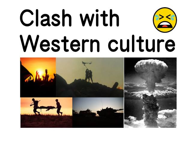 Study from B-ships to A-bombs clash with western culture